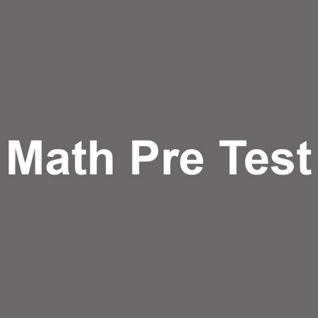 GED Math Pre Test 2