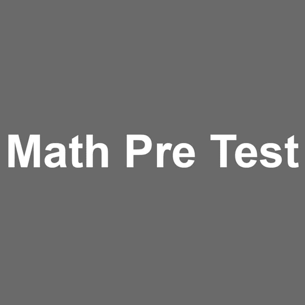 mathpretest